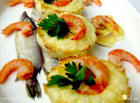 Рецепт Мини-фритата с креветками и пармезаном