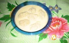 Молочный суп с галушками