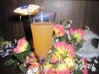 Приготовление коктейля с шампанским и мандаринами: шаг 2
