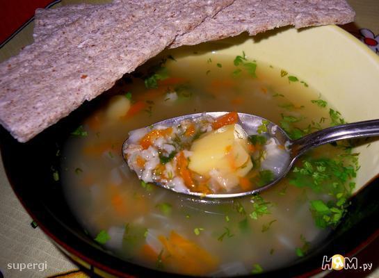 Суп разгрузочный с геркулесом