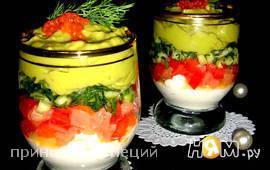 Verrines с сёмгой и кремом из авокадо