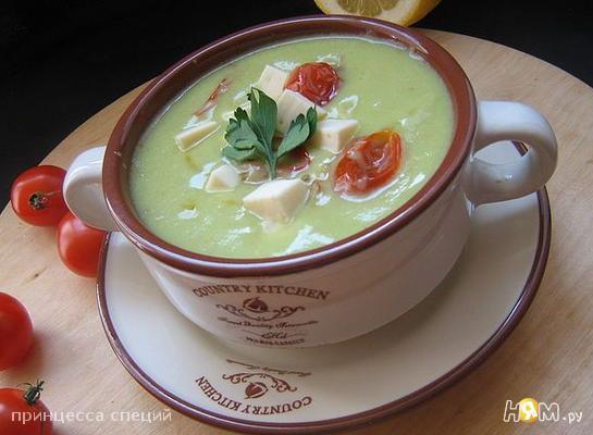 Рецепт Бархатный суп-пюре из авокадо