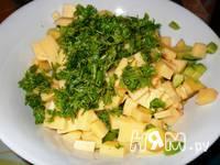Приготовление салата с креветками и авокадо: шаг 6