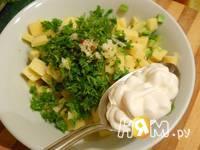 Приготовление салата с креветками и авокадо: шаг 8