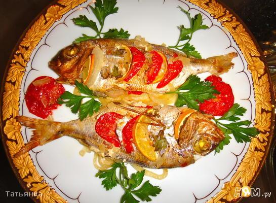 Рецепт Дорада приготовленная в рукаве для запекания