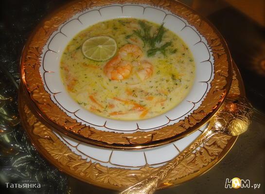Креветочный  суп на кокосовом молоке