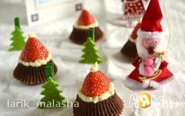 """Шоколадное пирожное """"Дед Мороз"""""""