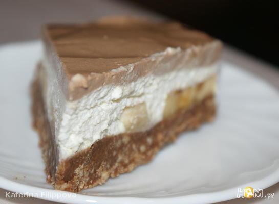 Шоколадный чизкейк с бананами