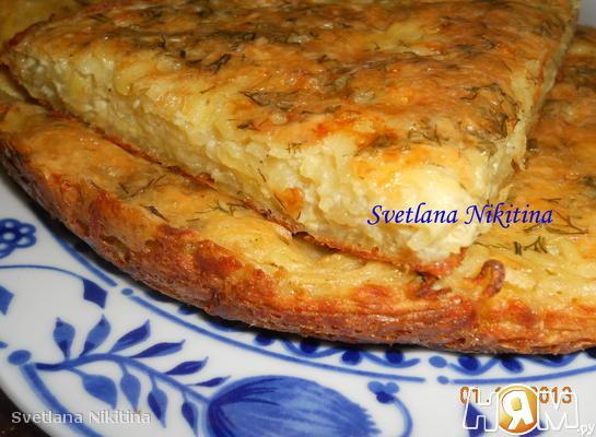 Запеканка из тертого картофеля с сыром