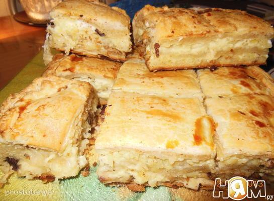 Рецепт Баница с картофелем и грибами