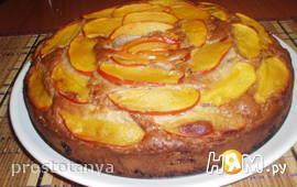 Пирог с хурмой и коньяком