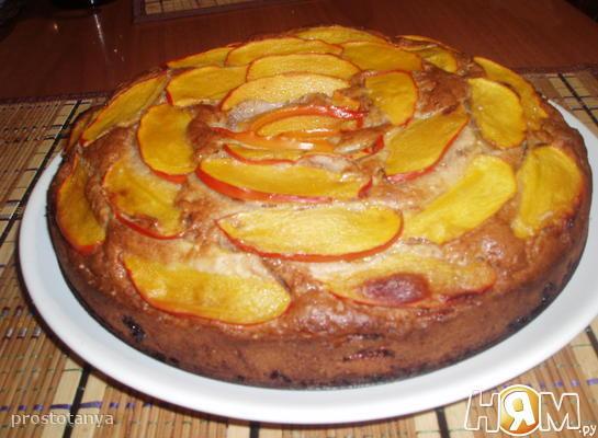 Рецепт Пирог с хурмой и коньяком