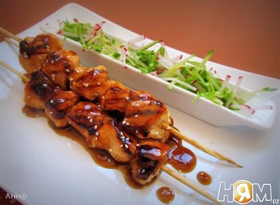 Рецепт Якитори – куриный шашлычок