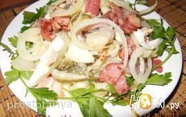Салат с сельдью по-цеблицки