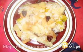 Запеканка рисовая с тыквой, яблоками и изюмом