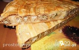 Блинчатый пирог в слоёном тесте