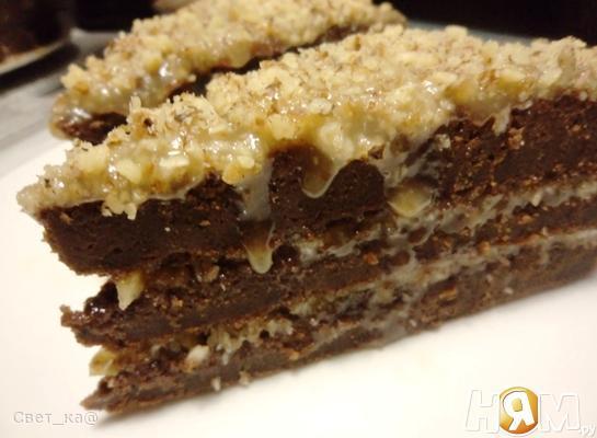 Рецепт Немецкий шоколадный торт