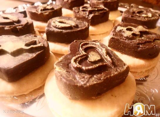 Рецепт Шоколад и песочное печенье