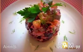Салат с сельдью и свёклой