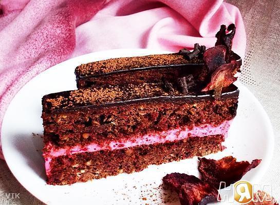 Свекольно-шоколадные пирожные