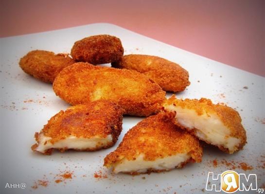 Рецепт Крокеты с сыром и ветчиной (тапас)