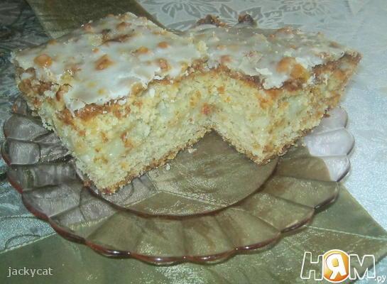 Рецепт Банановый пирог с заварным кремом