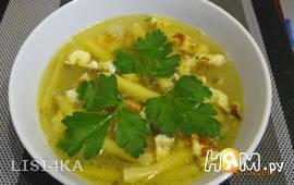 Суп с омлетом и спаржей