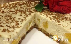 Мусс из белого шоколада с персиками