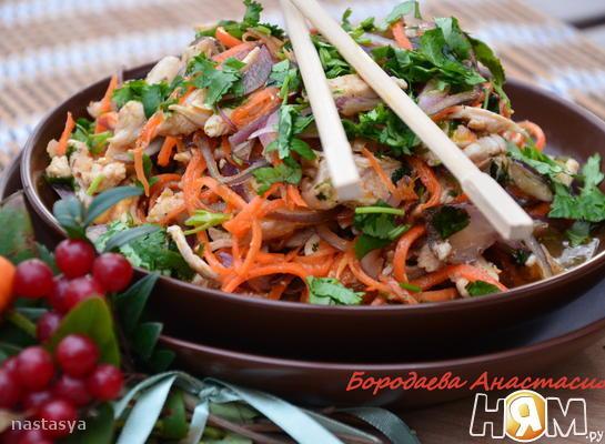 Рецепт Салат с курицей по корейски