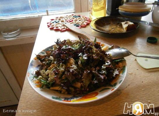 Рецепт Салат с яблоком и грецкими орехами