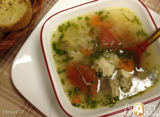 Рыбный суп острый с томатами