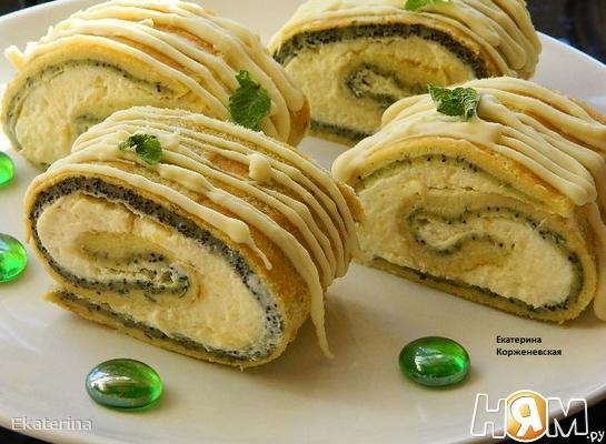 Мятное пирожное с лимонным курдом