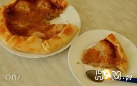 Мягкий пирог с консервированными грушами