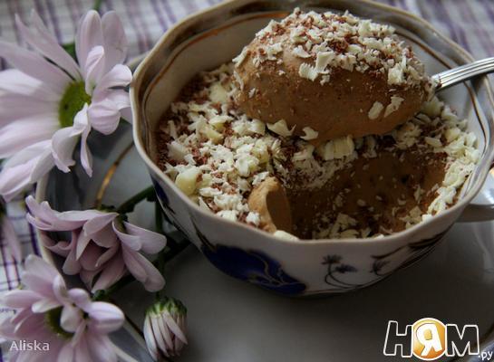 Рецепт Кофейный крем-мусс с белым шоколадом