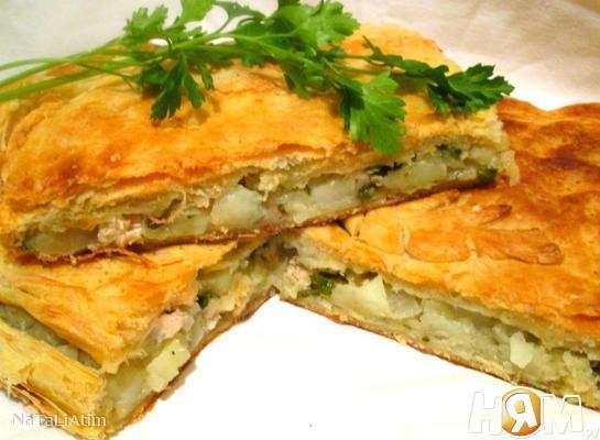Рецепт Кубете (Пирог с мясом и картошкой)