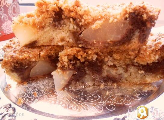 Рецепт Мраморный пирог с фруктово-кокосовым вкусом