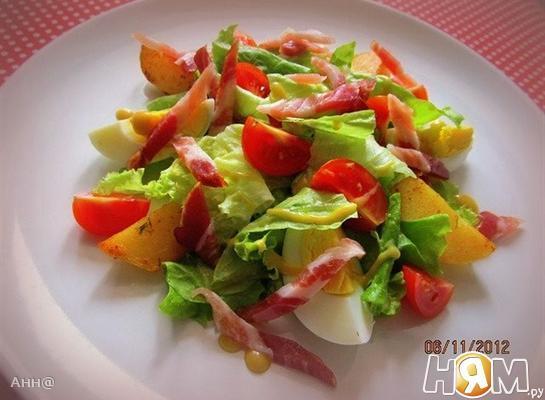 Тёплый салат с картофелем «Поздний завтрак»