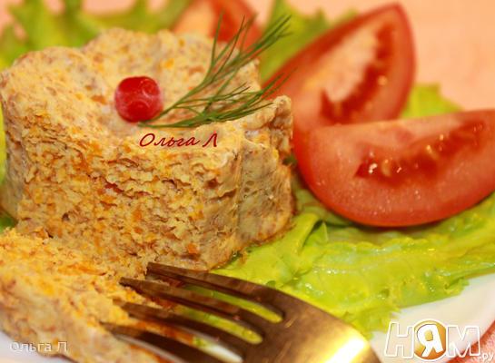 Куриное суфле с овощами