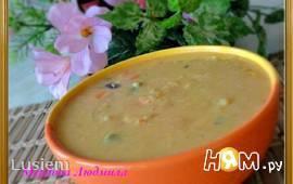 Гороховый суп-пюре с овощами