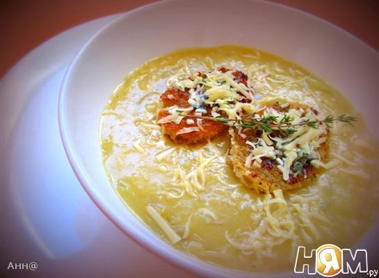 Рецепт Луковый суп с яблоком