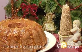 Фруктовый кекс с апельсиновой карамелью