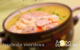 Сырный суп с лапшой