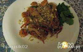 Лапша по-тайски с  кешью (по рецепту моей сестры)