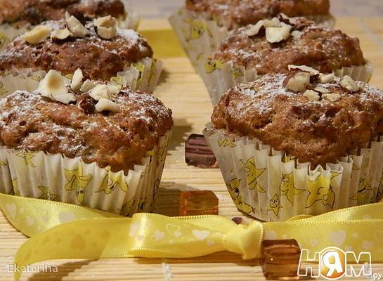 Рецепт Кексы с отрубями и финиками