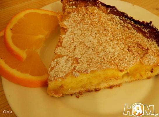 Рецепт Двухслойный апельсиновый пирог