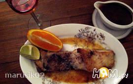 Палтус с апельсиновым соусом (с маслом макадамии)