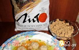 Суп с куриными фрикадельками и отрубями «ЛИТО»