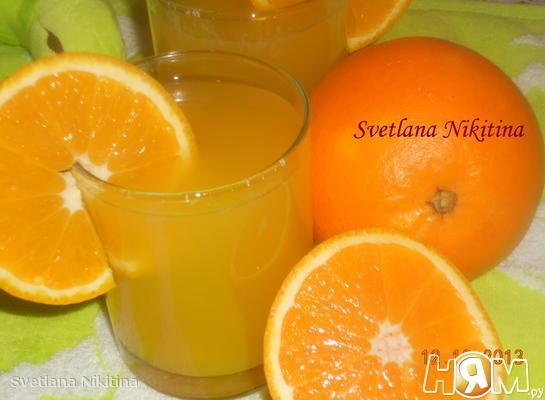 Рецепт Апельсиновый морс
