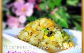 Тушеная капуста в мультиварке с овощами