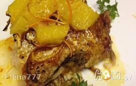 Рыба под горчично-апельсиновым соусом